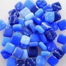 Glass Mosaic Ottoman Treasure Tiles Blue Mix 50 gram pack (Approx. 100 pieces)