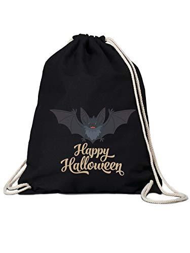 clothinx Turnbeutel Halloween Grusel Fledermaus Happy Halloween -