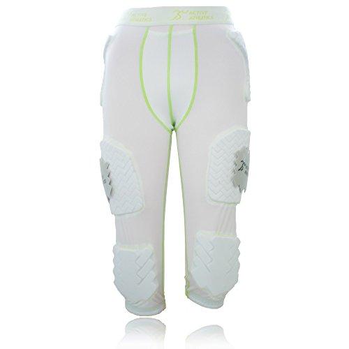 Active Athletics American Football Hose 7 Pocket mit 7 eingenähten Pads, weiß S
