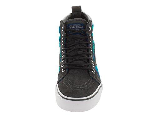 Vans Sk8-Hi MTE, Sneakers Hautes Mixte Adulte Bleu - Bleu