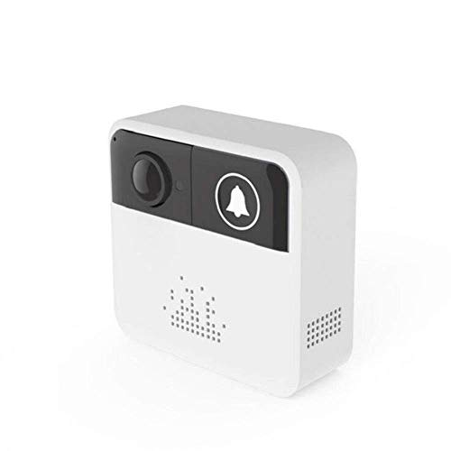 DOSNVG Wireless Video Türklingel, WiFi, Smart Intercom Anti-Diebstahl-Videoüberwachung Handy Erinnerung Button Bell, Externe Elektrizitätsreservierungsfunktion, für Ios und Android