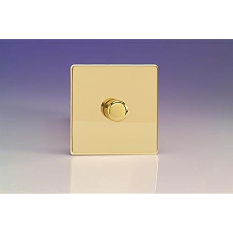 Varilight, stile vittoriano (ottone lucido), Dimensione Senza viti, LED Interruttore