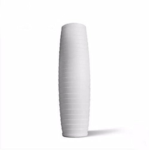 JRFBA Porcelain White Large Vase, Floor Ceramic Vase, Living Room, Chinese Home Decoration, Handmade Creative Bottle,B