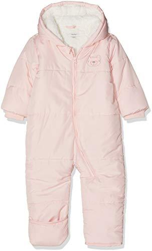 NAME IT Baby - Mädchen Schneeanzug NBFMAKI Suit W. FOLD UP FEET, Rosa Strawberry Cream, 62