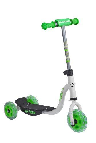 HUDORA Kinder-Roller Joey 3.0 weiß/grün, Scooter für Jungs, Kinder Scooter, 11061