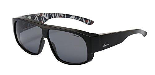 Joysun polarisierte LensCovers Sonnenbrille Unisex tragen über Korrekturbrille 9007
