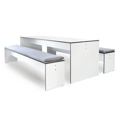 Riva Bank 176 cm ohne Lehne – weiß - 2