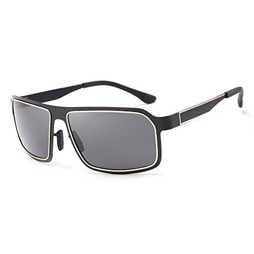 L.Z.HHZL Sonnenbrillen Klassische Herrenmode Sonnenbrillen Driving Mirror Polarized Quality Sonnenbrillen UV400 für Herren Mode (Color : Gold)