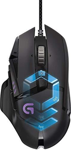 Souris gaming RVB personnalisable Logitech G502 Proteus Spectrum avec 11 boutons programmables, 200-12 000 ppp - Noir - Emballage Est Europe