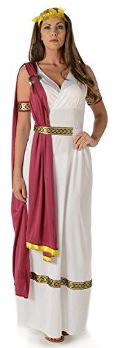 (Kaiserliche Römische Kaiserin Damen Altes Griechisches Frauen Erwachsen Kostüm (Small European 38 - 40 (UK 10 - 12)))