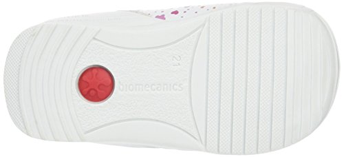Biomecanics 162134, Mocassins bébé fille Blanc - Weiß (BLANCO Y ESTAMPADO FLORES)