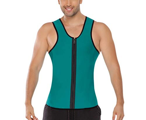 TOBEEY Das Korsett der Männer, das Shapewear modelliert, Bügel-Reißverschluss-Neopren-Weste-Taillen-Trainer-Bodysuit