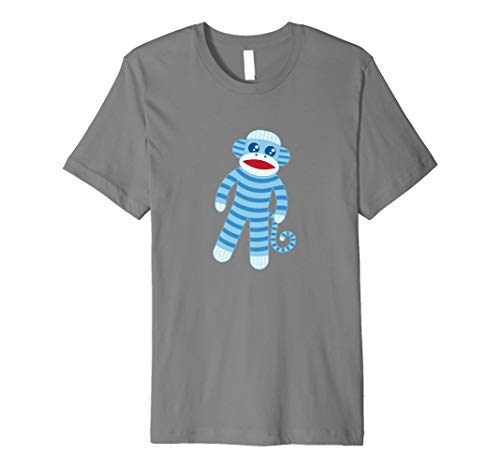 Cute Blue gestreift Socke Affe T-Shirt