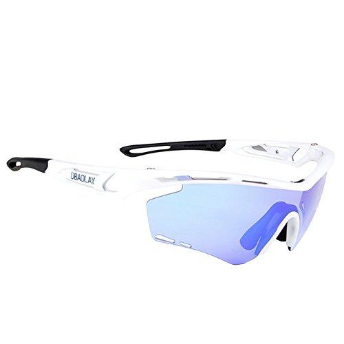 M.Baxter Sportsonnenbrille Unisex - Erwachsene Bikebrille Radbrille Sonnenbrille Polarisiert Biker Sonnenbrille Herren Damen Outdoor Sonnenbrille