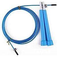 LridSu Cuerda de Alambre de Cuerda de Saltar Ajustable Saltar para Entrenamiento y Saltar la Cuerda de Salto de Entrenamiento de Entrenamiento (Color : Azul, tamaño : Length3m)