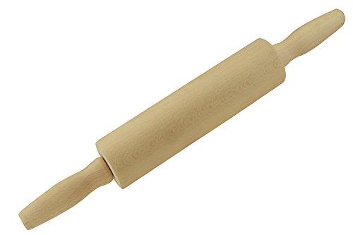 Apollo 8936 Housewares Beechwood Revolving Rolling Pin, 43 x 6 cm, Natural Wood