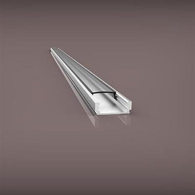 Set: Aluminium LED Profil PL1 Anser 2 Meter + Abdeckung Opal + Endkappe + Montageklammer Aluprofil von LED-Gigant bei Lampenhans.de