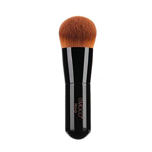 Waschen Kabuki-pinsel (Foundation Kabuki Pinsel abgewinkelt Gesicht Makeup Pinsel für die Mischung von flüssigem Pulver BB Creme abwischend Bronzer Make-up Pinsel für die kosmetische Schönheit (schwarz))