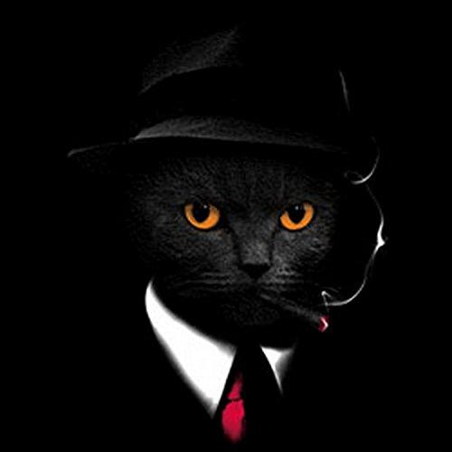 Pop Art Style Tank Top Agent Cat Shirt 4 Heroes Beach Tanktop Herren Geburtstag Geschenk geil bedruckt Schwarz