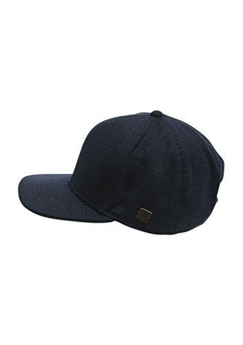s.Oliver - mit Logo, Baseball beretto da uomo, blu (blue melange 59w1), unica