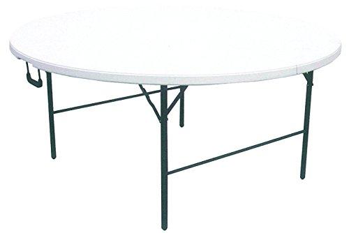 Tavolo Pieghevole Bianco : Tavolo tavolino rotondo pieghevole xl richiudibile resina hdpe