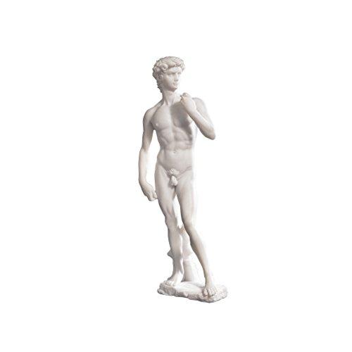 Design Toscano Statue David aus Marmor-Kunstharz, Maße: 7,5 x 11,5 x 30,5 cm