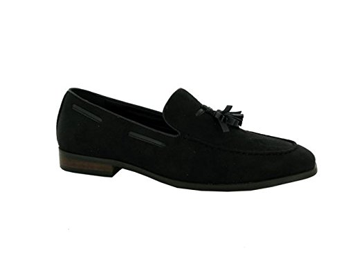 London Footwear ,  Herren Durchgängies Plateau Sandalen mit Keilabsatz Schwarz