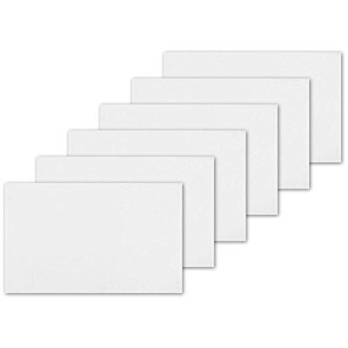 atzset Tischuntersetzer Platzdeckchen Tischdeko Tischmatte Essensunterlage Maße 30x45 cm, Farbe: weiß - schneeweiß (Weiße Deckchen)
