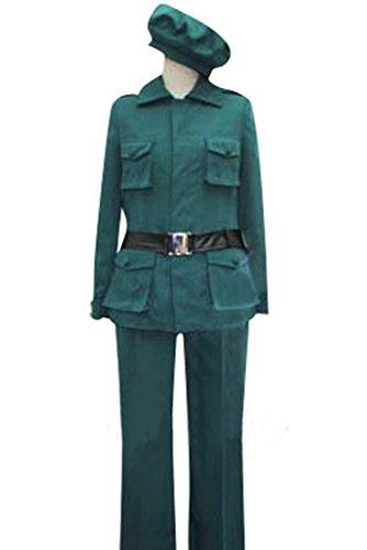 Ungarn Uniform Cosplay Kostüm Herren Grün Maßanfertigung (Ungarn Hetalia Cosplay Kostüm)