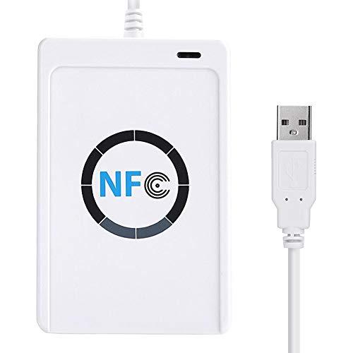 Zunate NFC RFID Reader,NFC Reader Kontaktlose Smart Reader,CCID-kompatibel PC/SC-kompatibel,Lese- / Schreibgeschwindigkeit von bis zu 424 kbps,ACR122U RFID/USB + SDK + Mifare IC Karte