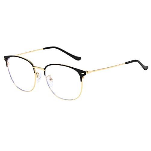 YULAND Unisex Retro Vintage Sonnenbrille Im Angesagte, Light Block Glasses Round Optical Eyewear Nicht Verschreibungspflichtiger Eyeglassee Rahmen
