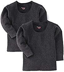 BODYCARE Boys Grey Top Thermal Full Sleeves (Pack of 2)