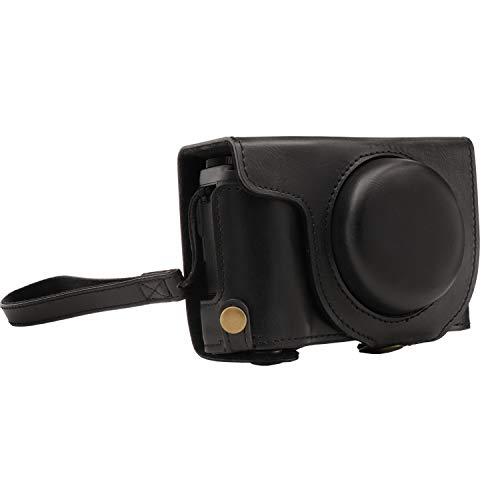 MegaGear MG1543 Ever Ready - Étui de Protection en Cuir avec Bandoulière pour Fujifilm XF10 - Noir