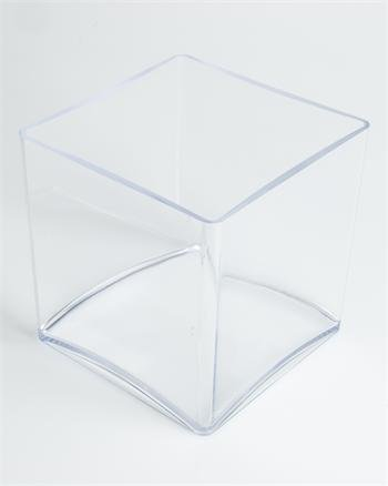 OASIS® clear acrylic designer cube (10cm) by Smithers Oasis