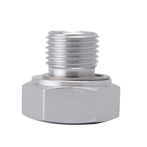 Männlichen Teil (RAQCWO Silber Männlich M16 * 1,5 Adapter Weiblich 1/8 Npt Aluminium Öldrucksensor Für Ls1 Ls Serie Motor Auto Styling Teil)