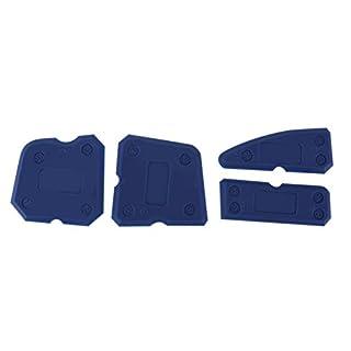 Everpert 4 Stücke Abdichten Werkzeug Set Versiegelungsmittel Tool Kit Silikon Entferner Kit Bauacryl Fugendicht Dichtmasse Dichtstoff Edge Entferner Scraper Blue Hand Tools