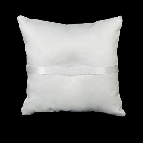 * VORCOOL 15 * 15cm anello nuziale cuscino boccioli perle finte Decor nuziale anello nuziale cuscino cuscino (bianco) lista dei prezzi