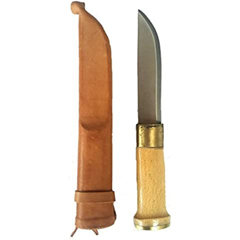 Cuchillo finlandés (Cinturón Cuchillo Cuchillo de pescador Cuchillo de caza Cuchillo vaina de piel