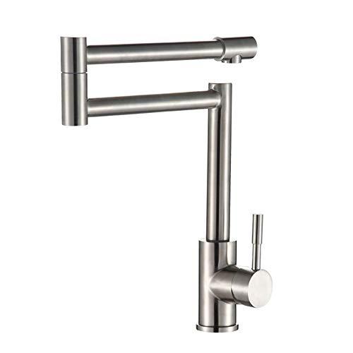 Preisvergleich Produktbild Gyy-tap Küchenarmaturen Bleifreie 304 Edelstahl-Küchenarmatur Kalt- und Warmwasser-Mischbatterie Faltbares Waschbecken Waschtisch-Mischbatterie