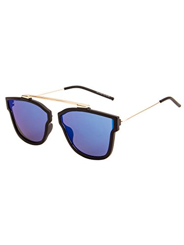 Mary Jane Retro Sunglasses MJ-7372-Black-Blue 