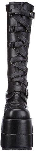 Demonia Stack-308, Bottes Homme Noir (Blk Vegan Leather)