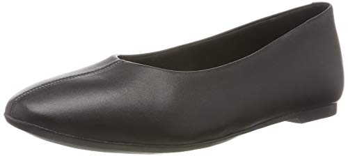 Clarks Chia Violet, Bailarinas para Mujer, Negro Black Leather Black Leather, 41 EU