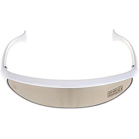 akimgo (TM) Giacca Outdoor Ciclismo occhiali UV400Schermo Uni-Lens sicurezza occhiali da sole equitazione occhiali occhiali occhiali, Silver