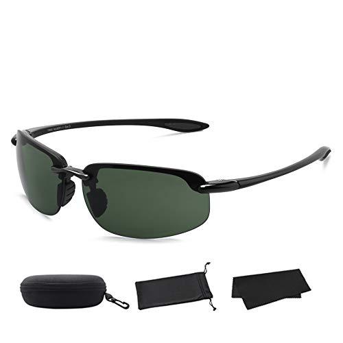 MAXJULI Sport Sonnenbrille Herren Damen Tr90 Metall Randloser Rahmen Markendesigner für Laufen Angeln Baseball Fahren MJ8001 ...