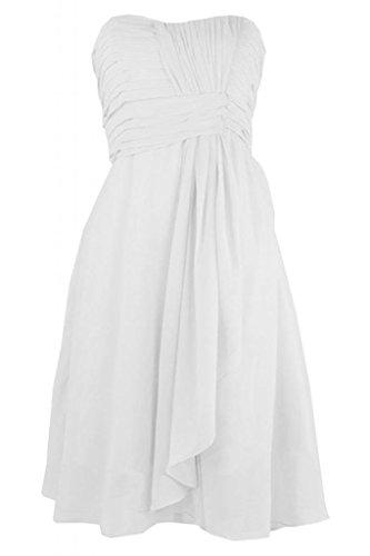 Sunvary Charming Homecoming Sweetheart Chiffon abito A-Line Abito da Cocktail, per feste Bianco