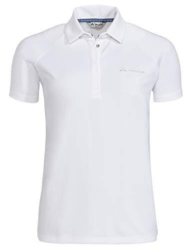 Vaude Damen Women's Skomer Polo Shirt T, White, 42 (Polo-shirt Für Damen White)