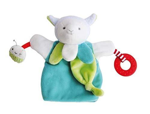 Doudou et Cie - Doudou Doudou et Compagnie Mouton agneau magic vert marionnette activitee dentition DC3005 - 7836