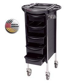 Efalock Friseur Arbeitswagen Piccolo 4002 schwarz