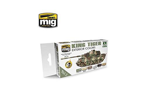 Munition mig-7166King Tiger Außen Farbe (Special Takom Edition) Vol. 2Acrylfarben-Set, Mehrfarbig -
