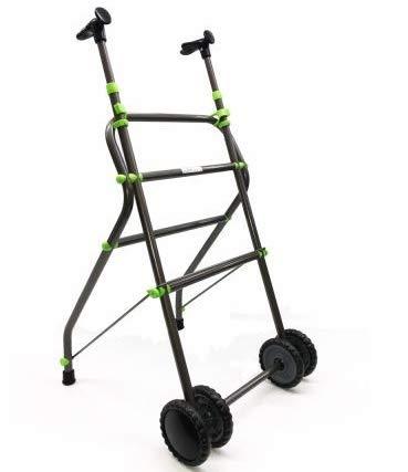 OrtoPrime Andador para Ancianos con Ruedas | Aluminio | Plegable | Regulable en Altura | Empuñadura ergonómica | Peso Máximo Soportado 100 Kg Diseño Único Elegante